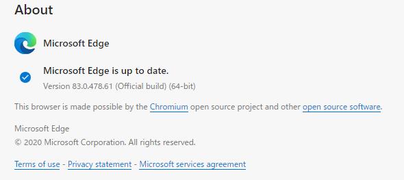 Version 83.0.478.61(Official build)(64bit)