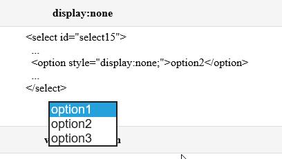 option2 is displayed.
